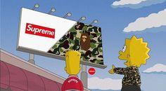 Bape vs Supreme Simpson Simpson Wallpaper Iphone, Iphone Wallpaper, Bart And Lisa Simpson, Homer Simpson, Trill Cartoon, Bape Wallpapers, Dope Cartoons, Picture Mix, Stoner Art