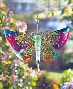 Butterfly  Metal and Glass Hummingbird Feeders, Yard, Garden #Unbranded