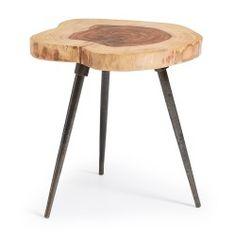 Mesita rincón, de madera de sheesham natural
