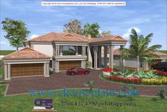 Overall Dimensions- 4 Car GarageArea- Square metres Luxury Homes Dream Houses, Dream Homes, My Dream Home, Bungalow House Design, Modern House Design, Double Story House, Earth Bag Homes, Building Costs, 4 Bedroom House Plans