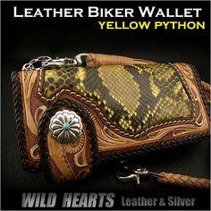 【楽天市場】ロングウォレット ライダーズウォレット 長財布 パイソン バイカーズウォレット カービング Biker wallet Red Python Genuine Cowhide Leather Handcrafted Carved LeatherCustom Handmade WILD HEARTS Leather&Silver (ID ID lw1144):ワイルドハーツ