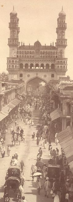 HYDERABAD Once upon a time !: The Char Minar gate