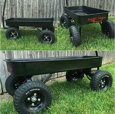 Custom Radio Flyer Wagon, Radio Flyer Wagons, Welding Projects, Woodworking Projects, Go Kart Frame, Kids Wagon, Pull Wagon, Beach Cart, Garden Cart