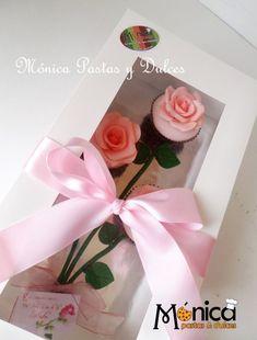 ramo de 3  cupcakes