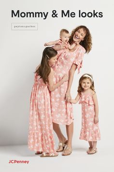 Prime time with the kiddos is on every mom's wish list this Mother's Day, so make it extra special with matching looks by Peyton & Parker from JCPenney! We've got all kinds of adorable and affordable Mommy & Me dresses for her whole squad to wear, whether they're lounging at home or out to a special day of brunch and shopping. Because the family that matches, always steps out in style!