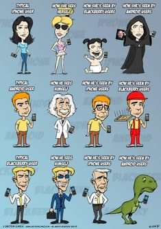 How people see you based upon your cell phone choice.