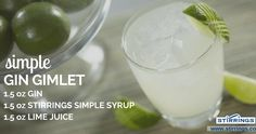 Crafting a Gin Gimlet has never been so easy. Make a comeback with this classic cocktail and really impress your friends! Allure Flooring, Brand Campaign, Classic Cocktails, Simple Syrup, Lime Juice, Heavenly, Glass Of Milk, Beverages
