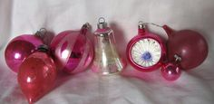 Vintage 1950's Lot Of 7 Pink Christmas by AuntSuesVintage on Etsy, $19.99