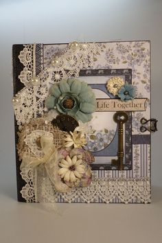 Heartfelt Creations Cut Mat Create paper collection was used in making this mini album