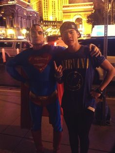 Calum and Superman!