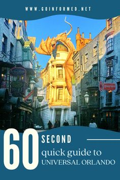 Learn the basics about Universal Orlando in just one minute with this quick tutorial. At GoInformed.net/UOquickguide