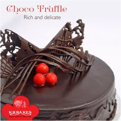 Choco Truffle: An exquisite Christmas gift.  #KRBakes #KRBakesSince1969 #BakedWithLove #ChocoTruffle #Chocolate