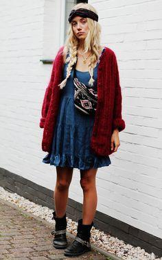 Nanda Schwarz sweet oversize dress & cardigan
