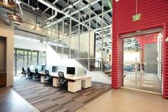 Soaring ceilings, natural lighting, whimsey, comfort..the perfect work environment