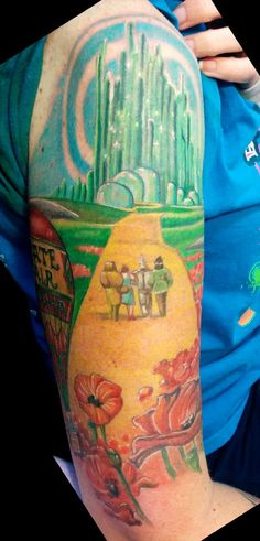 Color wizard of Oz tattoo on the arm. | Tattoos I did | Pinterest