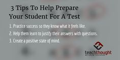 3 Tips To Help Prepare Your Student For A Test