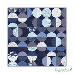 True Blue Bowls Quilt Pattern by Zen Chic for Moda Quilt Modernen, Blue Colour Palette, Blue Bowl, Bowl Designs, Pattern Images, Machine Applique, Blue Quilts, Circle Shape, Sewing Notions