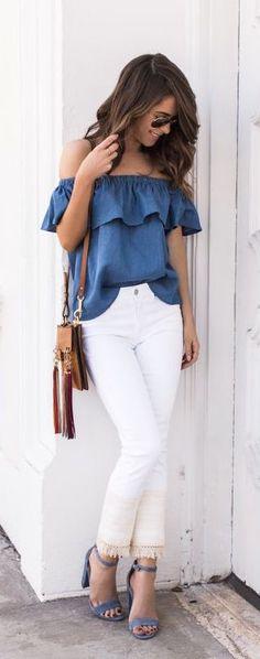 #summer #fashion / chambray