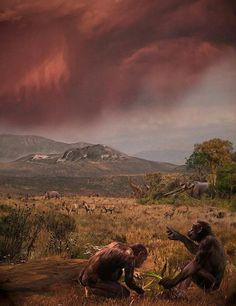 Graecopithecus freybergi lived 7.2 million years ago in the dust laden savanna of the Athens Basin by Velizar Simeonovski