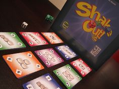 Shake Out!! An awesome card game that is like Yahtzee but with much more strategy. Game for up to 4 players.