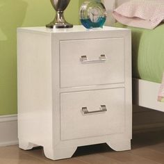 American Woodcrafters Smart Solutions 2 Drawer Nightstand - http://delanico.com/nightstands/american-woodcrafters-smart-solutions-2-drawer-nightstand-588672228/