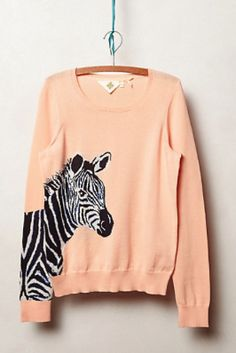 Animal Sweaters: Quagga Pullover from Anthropologie ($98)
