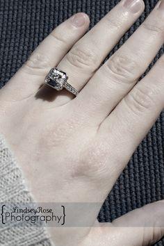 Antique Square Engagement Ring