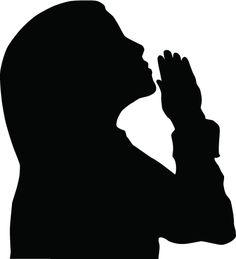 women in prayer clip art silhouette of a woman praying royalty rh pinterest com  clip art of girls praying before her bible