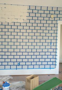 Faux Brick Wall You have to see this stunning makeover! The post Faux Brick Wall appeared first on Etta Ward. Fake Brick Wall, Faux Brick, Exposed Brick, Brick Wall Decor, Whitewashed Brick, Grey Brick, Painted Brick Walls, Stone Walls, Faux Stone
