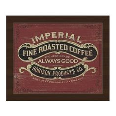 Click Wall Art Fine Roasted Coffee Framed Vintage Advertisement on Canvas
