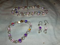 """""""Pink Cubes"""" 3 piece set --- LIMITED QUANTITY --- $7.00 + $3.00 shipping in the USA"""
