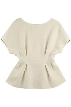 Shop Pleated Waist Raglan Sleeves White Blouse at ROMWE, discover more fashion styles online. Blouse Styles, Blouse Designs, Casual Outfits, Fashion Outfits, Gothic Fashion, African Fashion Dresses, Blouses For Women, Cheap Blouses, Shirt Blouses