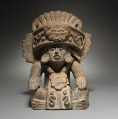 Urna funeraria, 400s-500s México, Oaxaca, 5to-6to siglo barro, general - h: 35.50 w: 27,90 d: 20,00 cm (h: 13 15/16 W: 10 15/16 d: 7 13/16 pulgadas). Regalo de la familia Eastman 1963.669