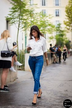 cropped ankle pants | #fashion #streetstyle | http://lkl.st/1shsZz5 | See more on https://www.lookli.st #Looklist