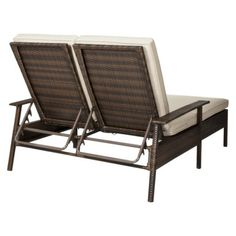 Threshold��� Rolston Wicker Patio Double Chaise Lounge