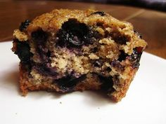 Blueberry Flax Muffins.  Rich in Omega-3.  #vegan