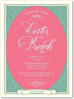 Exquisite Egg - #Easter Party Invitations - Southern Living Magazine - Vanilla Neutral