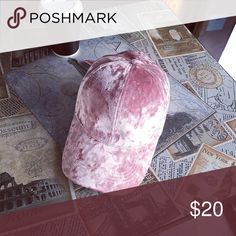Just arrivedGorgeous crushed velvet pink cap Gorgeous crushed velvet capno more bad hair daysgreat for putting that finishing touch to your outfit Accessories Hats