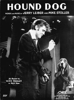 "Sheet music cover for Lieber and Stoller's ""Hound Dog"", Elvis Presley's fourth Billboard pop No. 1 hit, August 4, 1956. (AP Photo)"