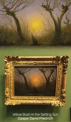 Willow Bush in the Setting Sun by Caspar David Friedrich, on display in the Frankfurt Goethe Museum
