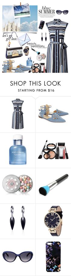 """Blue summer"" by hani-bgd ❤ liked on Polyvore featuring Miss Selfridge, Bionda Castana, Braccialini, Bora Bora, Dolce&Gabbana, Laura Geller, Guerlain, Belk & Co., Anne Klein and Emilio Pucci"