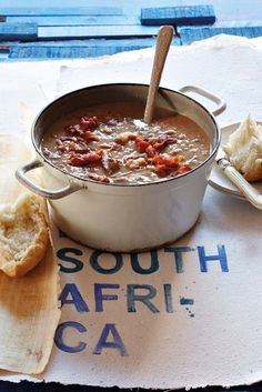 This is the food team's favourite South African soup recipe. It's a delicious, thick and meaty soup. Soup Recipes, Cooking Recipes, Lamb Dishes, South African Recipes, Winter Soups, Bean Soup, Soups And Stews, Soul Food, Food And Drink