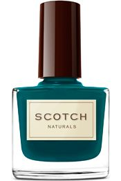 Scotch Naturals, all natural nail polish.  No formaldehyde, acetates, or other nasty chemicals.  Fun colors, cute Scottish names.  Vegan.  Cruelty-free.  Gluten Free.  Fragrance Free.  Toxin Free.  Paraben Free.  Hypoallergenic.  Biodegradable.