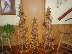 tobacco stick trees  Would also be nice for in the garden