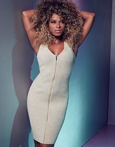Womens stone fleur east by zip bodycon dress from Lipsy - £38 at ClothingByColour.com