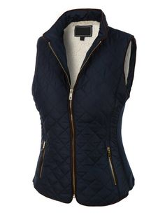 LE3NO Womens Lightweight Quilted Puffer Jacket Vest with Pockets