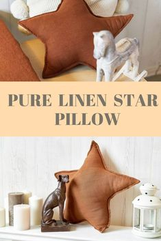 Deco Star Pillow, Star Cushions, Chocolate Brown Pillow, Decorative Linen Pillows, Star Shaped Pillow, Brown Star Decoration Star Home Decor Brown Pillows, Linen Pillows, Cushions, Newborn Gifts, Baby Gifts, Girls Pink Bedding, Star Cushion, Linen Bedroom, Star Decorations