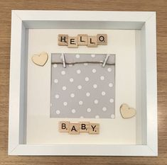 Baby scan scrabble frame Hello baby frame first photo frame baby gift new Baby photo baby keepsake frame hello baby Scrabble Letter Crafts, Scrabble Wall Art, Scrabble Frame, Scrabble Tiles, Baby Photo Frames, Photo Baby, Picture Frames, Baby Scan Frame, New Baby Photos
