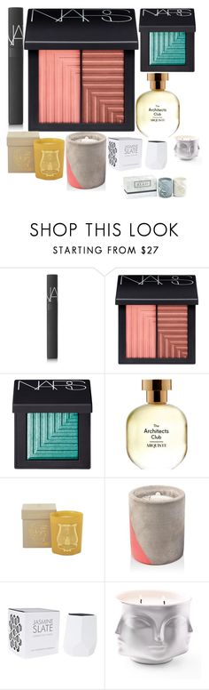 """currently lusting..."" by cheapchicceleb ❤ liked on Polyvore featuring beauty, NARS Cosmetics, Arquiste Parfumeur, Jayson Home, Paddywax, D.L. & Co., Jonathan Adler, Beauty, Home and lustlist"
