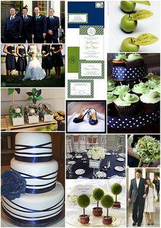 Navy Blue Green Wedding And Summer Weddings